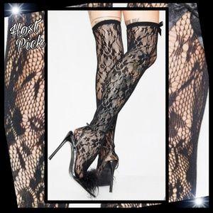bf42ed08531 Music legs Sandy Vixen lace thigh highs sz OS
